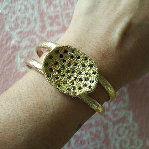 Melinda Maria Gold Pod Cuff Bracelet